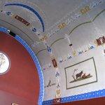 Painted ceiling in a room off North Corridor of Upper Floor