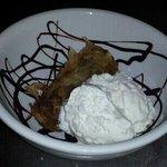 yumm battered mars bar and ice cream