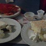 single pieter, chocolate cream pie, & coconut cream poor