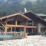 The chalet from the garden