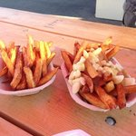 fries and poutine