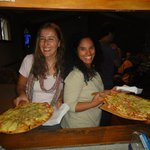 Pizza night at the backpackers