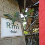 Hotel sign board..