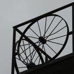 Iron wheel used for art