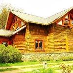 El hostel realizado todo en madera