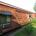Train cars turned into hotel rooms