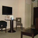 """The ONLY pic I got of the """"Living room area"""" there was another Tv in the bed section"""