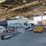 F-101 under restoration in Apron Ave hanger