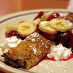 Strawberry Banana Crepe Pancakes