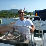 Francesco enjoys his job behind the wheel under guidance from Fabio