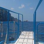 Boarding gangplank view forward.