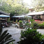 courtyard and beer gardon