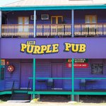 The front of the Purple Pub