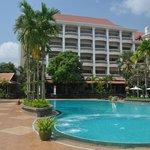 Hotel gezien vanaf het zwembad