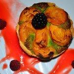 tarte abricots et sa crème d'amande et pistaches