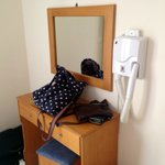 Dressing table and hairdryer