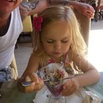 tia enjoying her ice cream :)