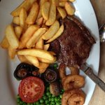Superb steak ;) Full of flavour, friendly owners.