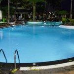Night lights at pool