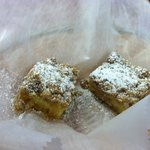 complimentary gluten free crumb cake - delicious