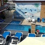 pool area from room 304 balcony