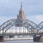 View of 'Stalin's Birthday Cake' from Akmens (Stone) Bridge