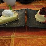 Lemon Custard Tart and Yogurt Cheesecake