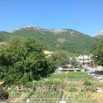 panorama verso i Monti di Agerola dal secondo piano della struttura