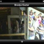 Guests waiting outside Brody's.