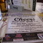 cheers bar were we eat