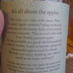 Brilliant list of apples in the 'Honey & Daughter' cider
