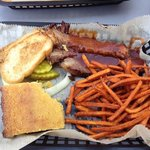 brisket with sweet potato fries
