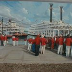 Mural of band at river in Paducah