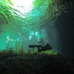 Cenote cavern diver training