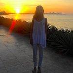 El atardecer en Playa Canela