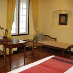Tastefully furnished with antiques and art works