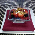 Yogurt with Homemade Granola & Berries