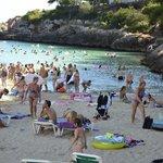 The beach at Cala Egos.