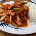 Spicy Korean chicken.