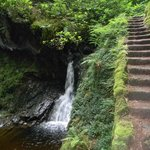 water and steps