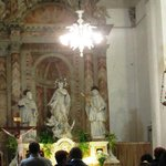 Inside of the church; mass was being held here.