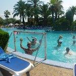 Water polo at Hotels main pool