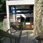 Entrance to the aerial tram at top of gorge.