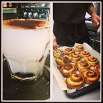 Cinny rolls and Hot White Chocolate