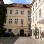 Exterior of Husova 9 Apartments. In their quiet courtyard.
