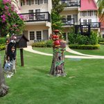 Sandals Negril, statues from trees