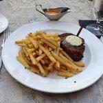 Filet Mignon w/Maître d'Hôtel Butter, Spicy Béarnaise and Fries