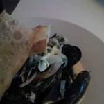 Mussels in creamy dill sauce