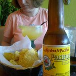 Pacifica Beer, Chips, Margarita, and my wife!!! All good!!!