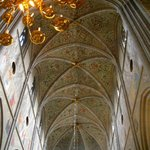 The beautiful cathedral ceiling